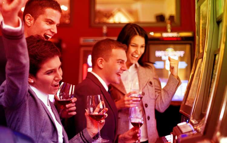 Celebraciones en el casino
